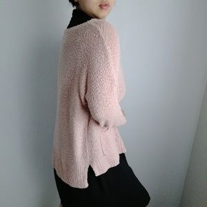 Loft baby pink knit sweater